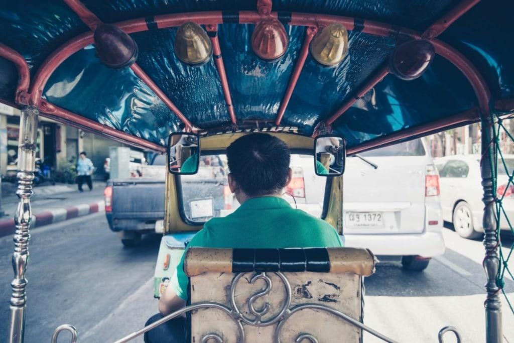 Bangkok Tuk Tuk Fahrer