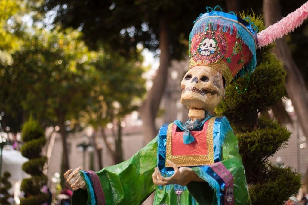 La Catrina Figur Mexiko während Día de los Muertos