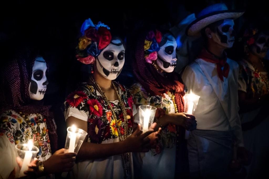 Teilnehmer am Día de los Muertos