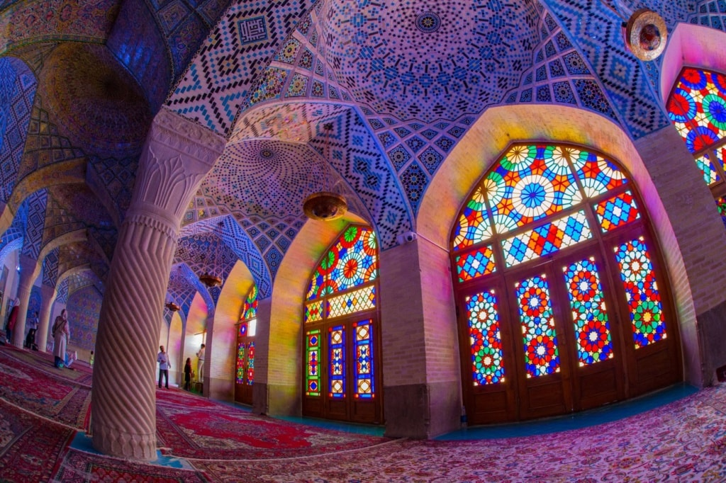 Nasir al-Mulk Mosque in Shiraz, Iran