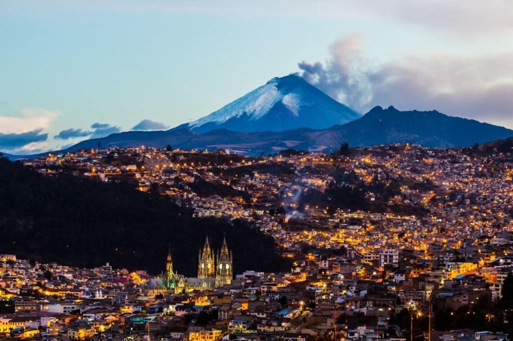 Panorama-Blick auf Quito