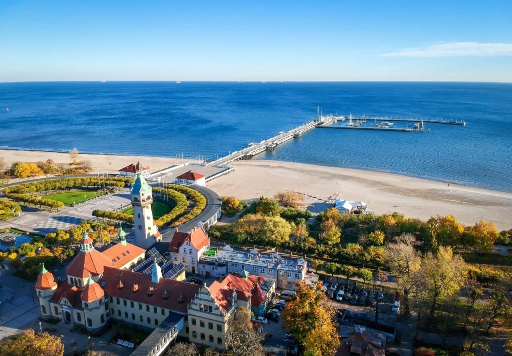 Blick auf Sopot an der Ostsee, Polen