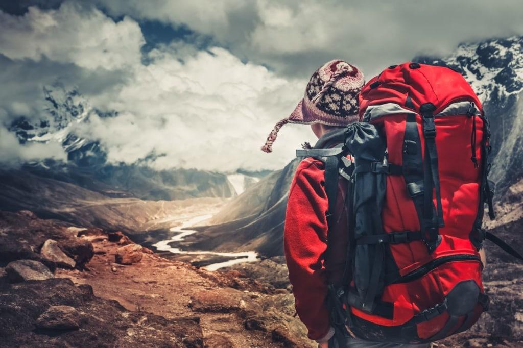 Wanderer im Himalaya-Gebirge