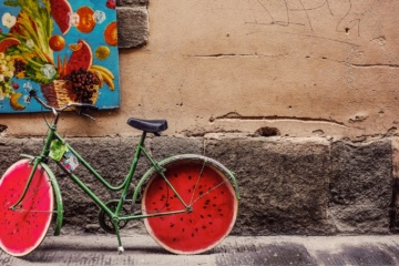 Mit dem Fahrrad entlang des Giro di Laguna