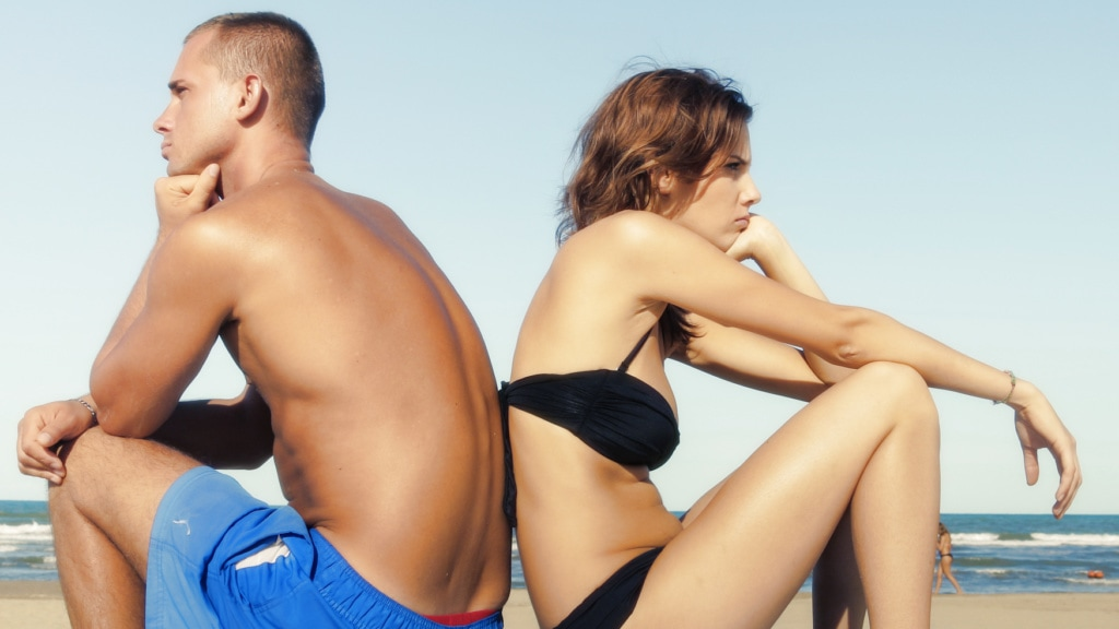 Faux-Paar im Urlaub