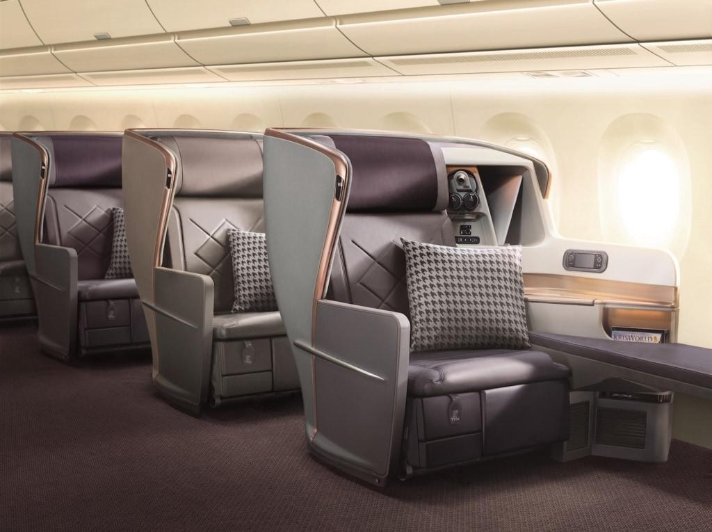 Mach's dir gemütlich: die Sitze von Singapore Airlines sind urgemütlich!