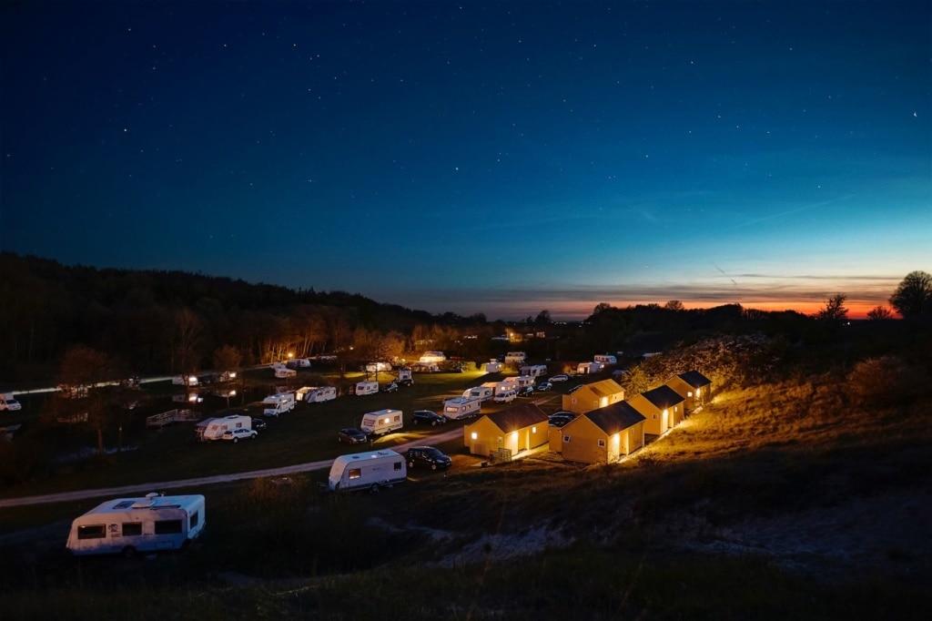 Camping Mons Klit nachts