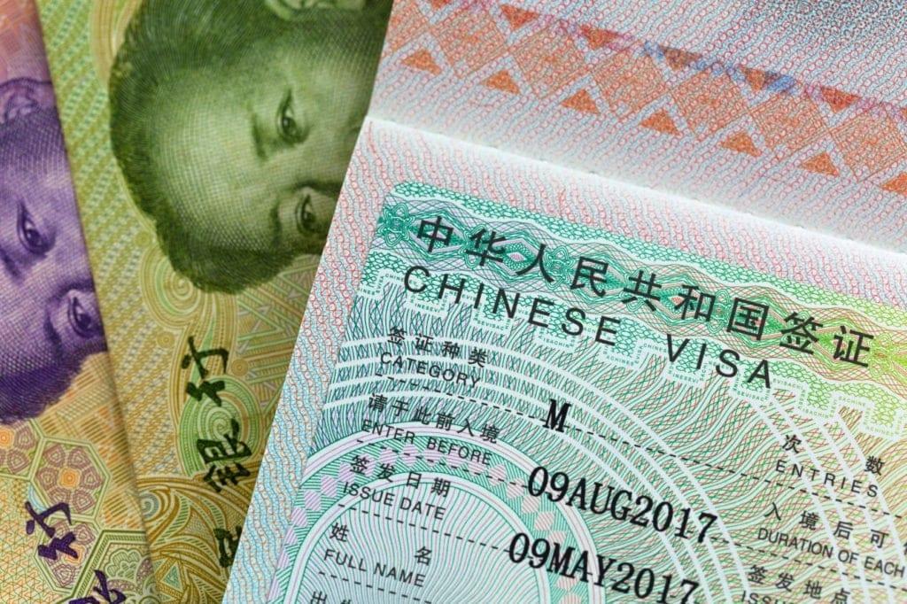 Visum für Einreise nach China