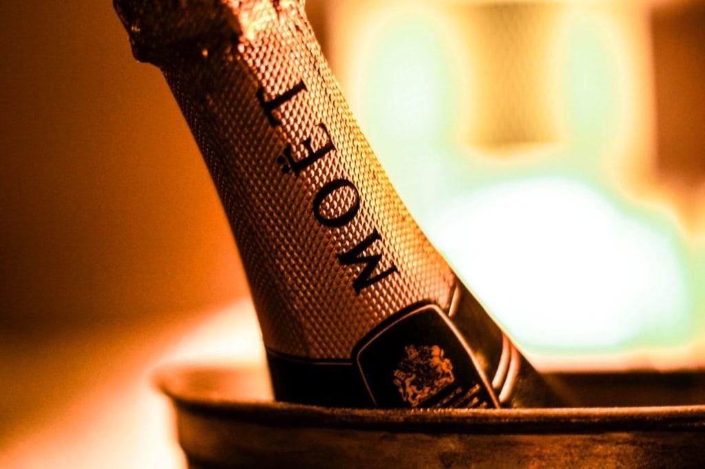 Flaschenhals Moet Champagner
