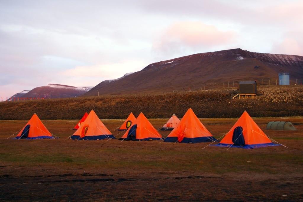Longyearbyen Camping in Spitzbergen