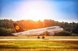 Lufthansa A319 hebt ab