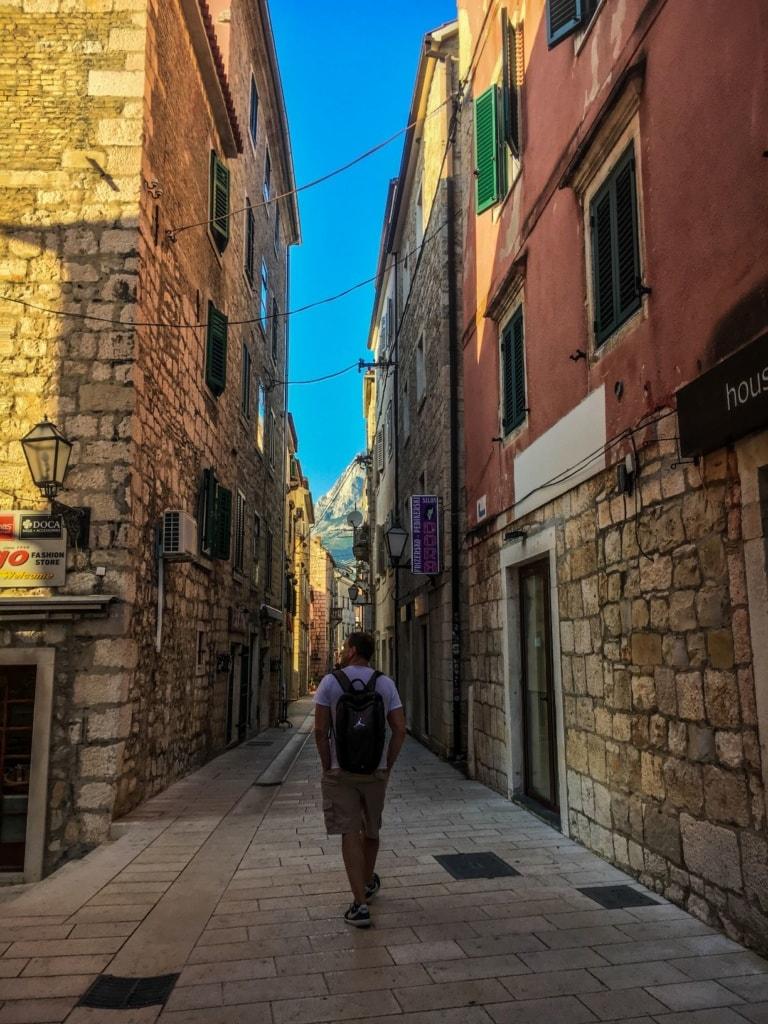 Besucher,Altstadt,Makarska