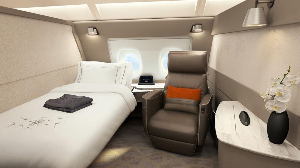 Die Suites von Singapore Airlines garantieren einen guten Schlaf an Bord.