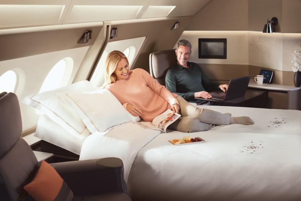 Gut gebettet – in den Suites von Singapore Airlines auf jeden Fall!