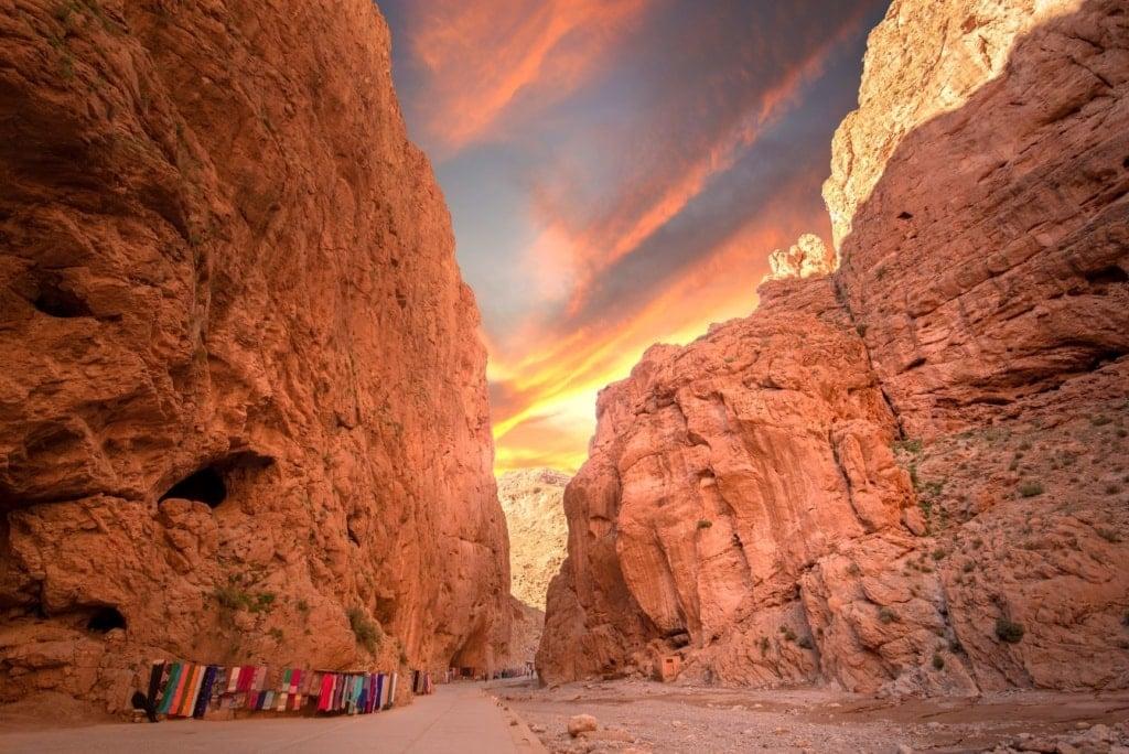 Todgha-Schlucht im Atlas-Gebirge in Marokko