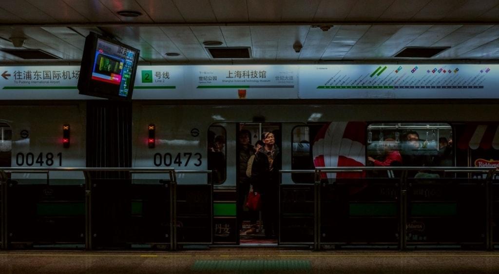 U-Bahn-Station in Shanghai