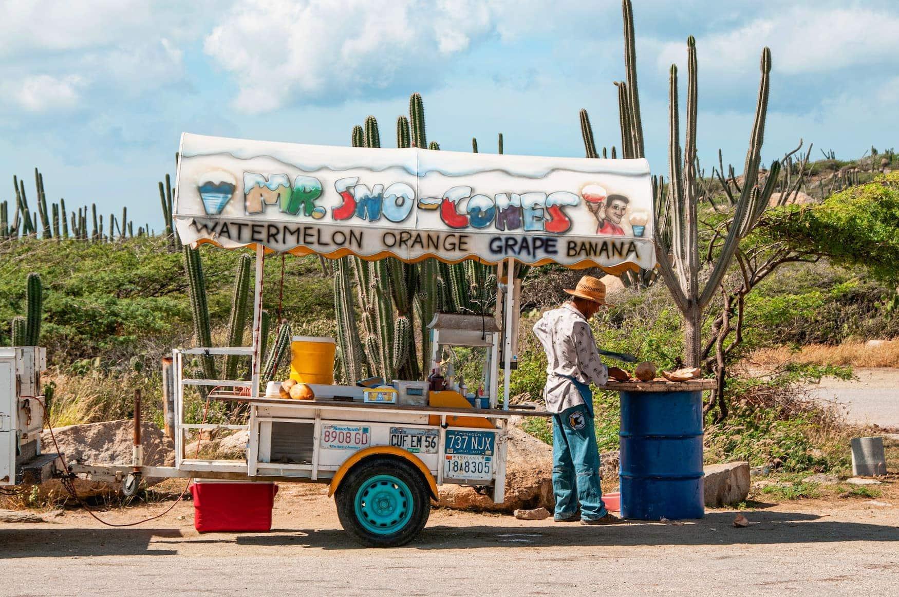 Aruba Straßenstand