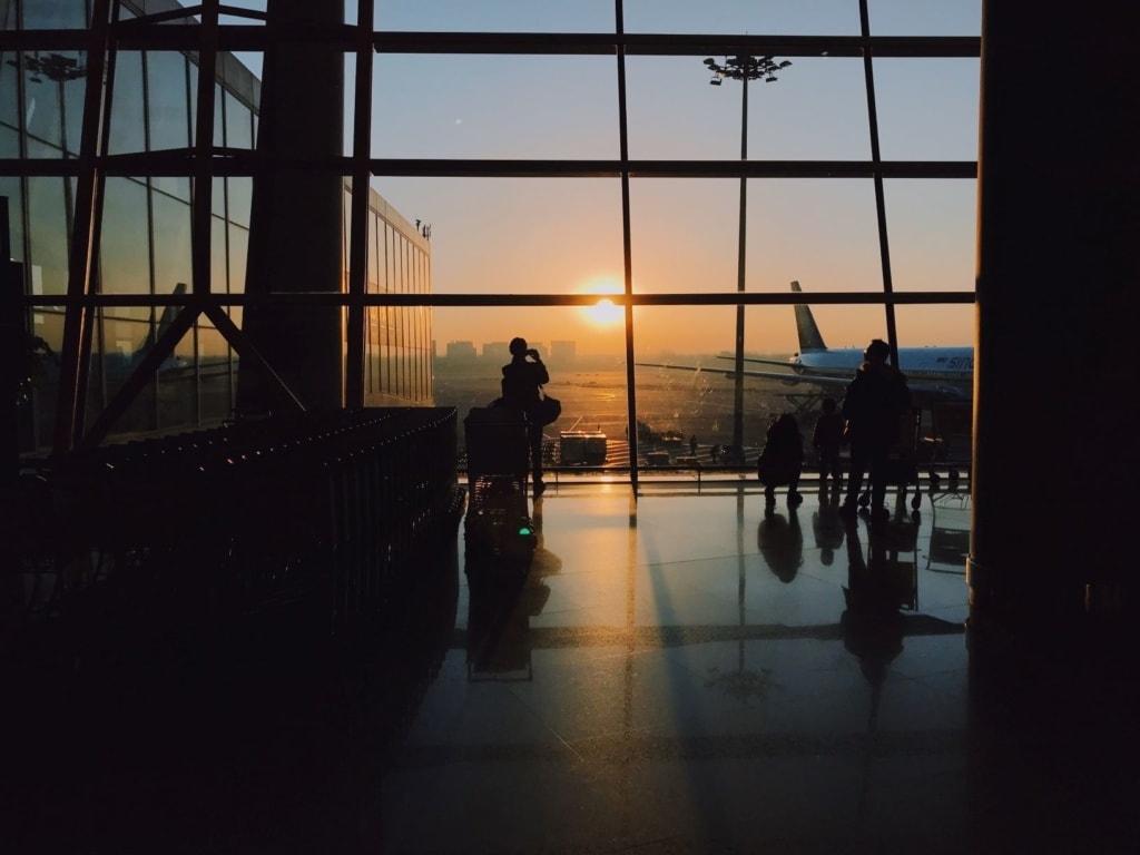 Flugpassagiere im Airport
