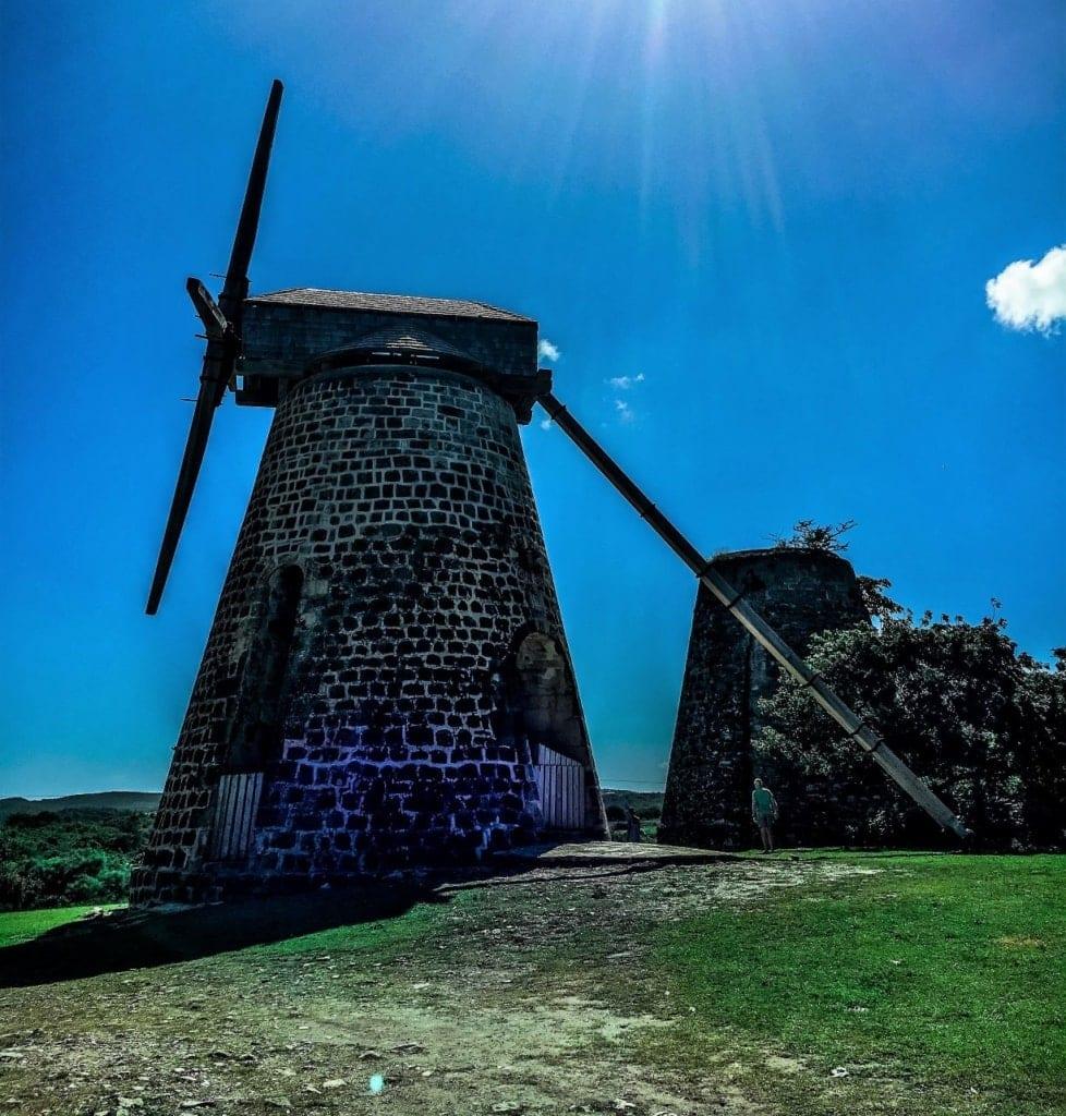 Windmühle Betty's Hope auf Antigua, Karibik