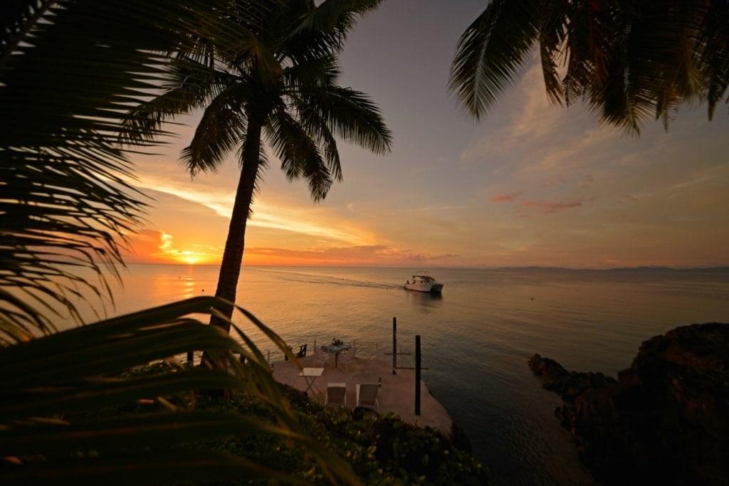 Blick aufs Meer vom Paradise Taveuni Resort aus