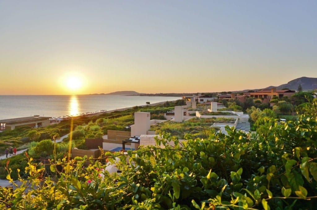 Blick auf die Costa Navarino Küste