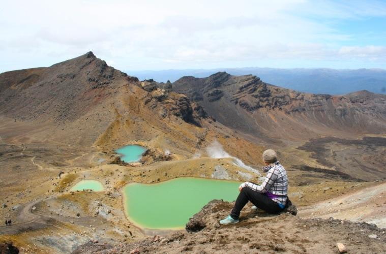 Blau oder Grün? So verlockend die Seen auf dem Tongariro Alpine Crossing aussehen, baden darf man in ihnen nicht.