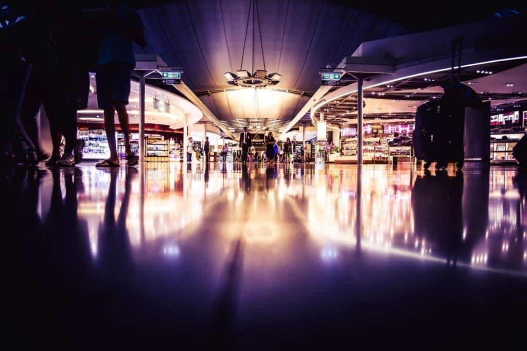 Impression aus dem Flughafen-Terminal in Taiwan