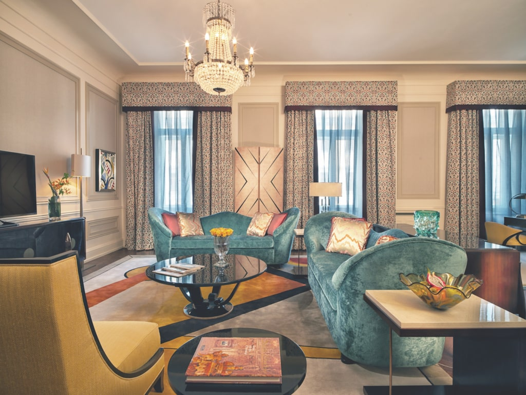 Im Grand Hotel Europe widmen sich verschiedenen Suiten Künstlern, zum Beispiel Kandinsky.