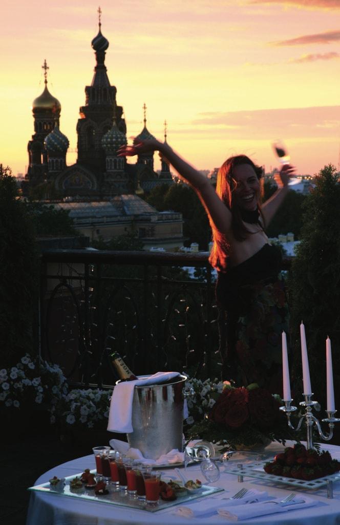 Vom Dach des Belmond Grand Hotel Europe kann man sogar die große Basilika sehen!