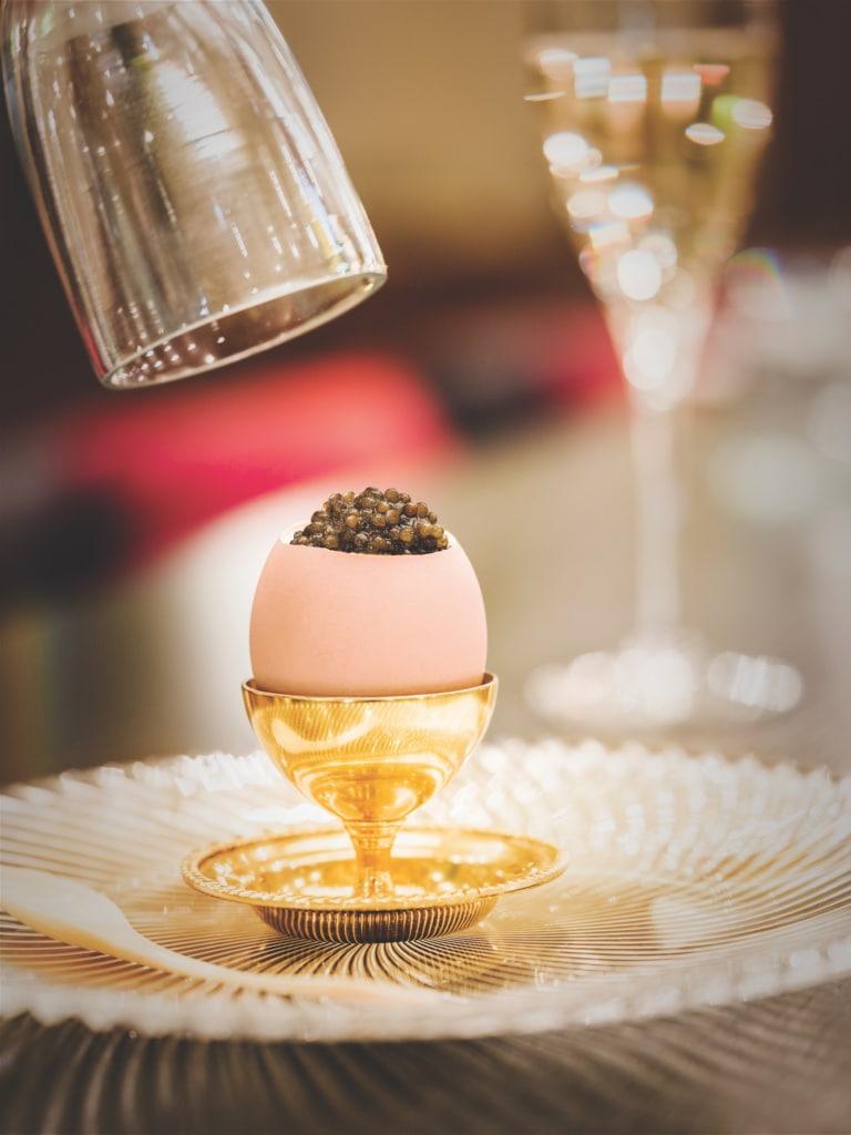 Kaviar darf bei einem Besuch im Grand Hotel Europe selbstverständlich nicht fehlen.