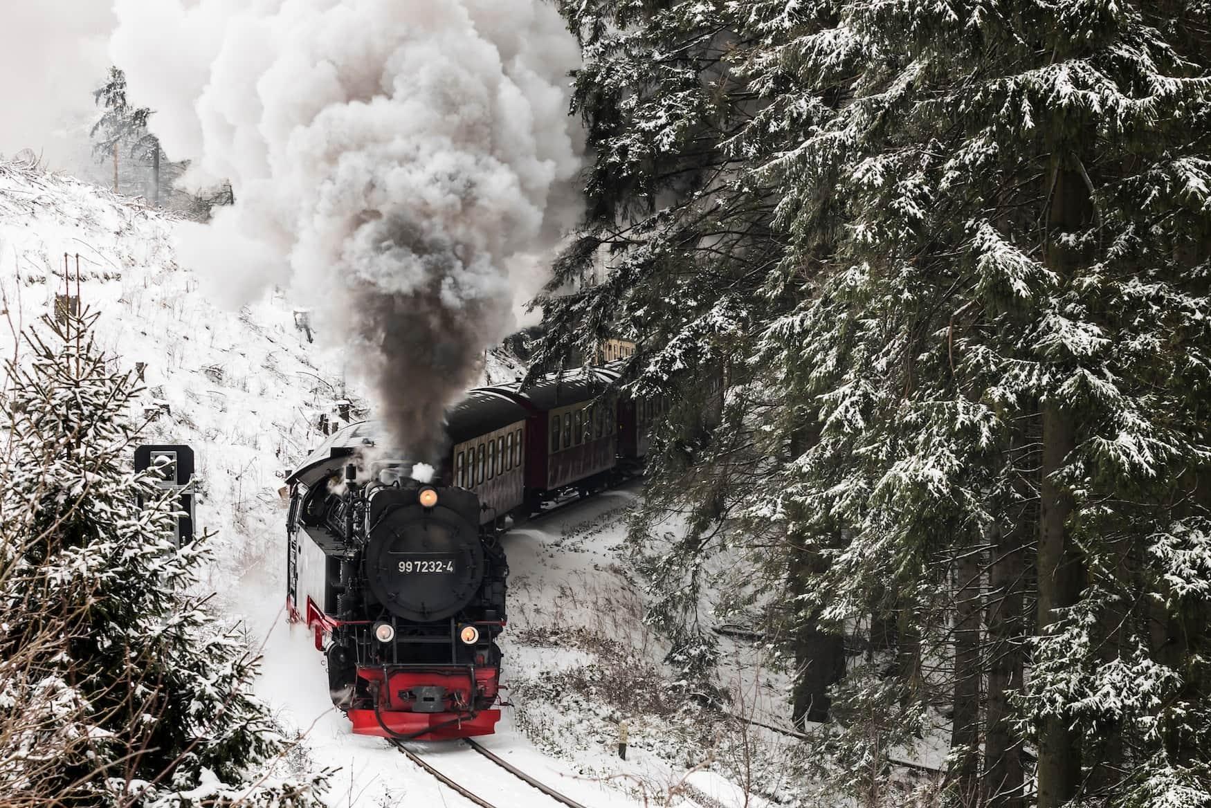 Harzer Schmalspurbahn im Winterwunderland