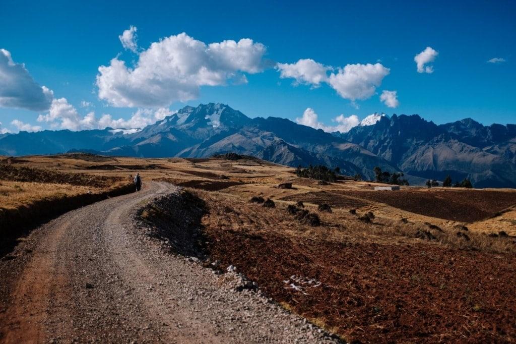 Straße im Heiligen Tal der Inkas in Peru