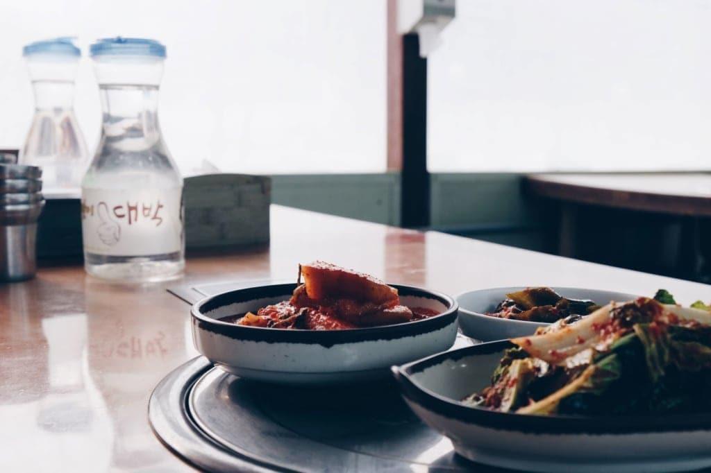 Vorspeisenschalen auf Koreanisch