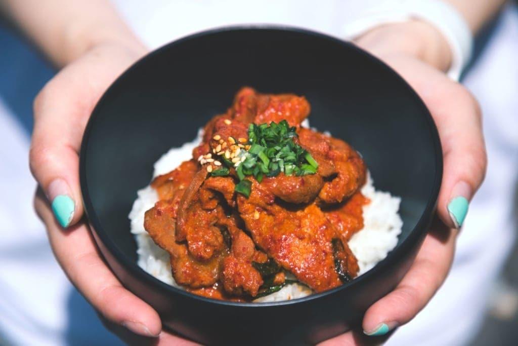 Hühnchengericht Korea