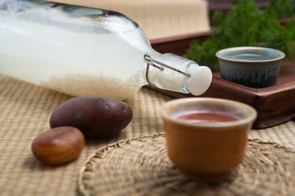 Reiswein-Flasche