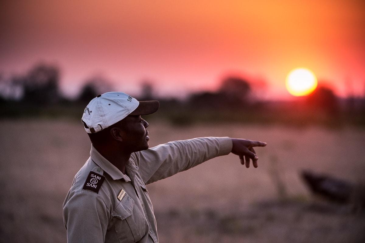 Safari-Guide in Sabi Sabi, Südafrika