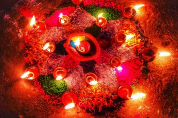 Tihar Festival Nepal Lights