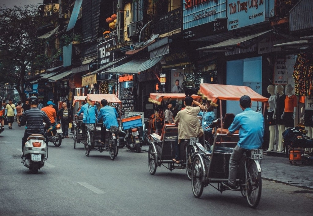 Straßenverkehr in Vietnam