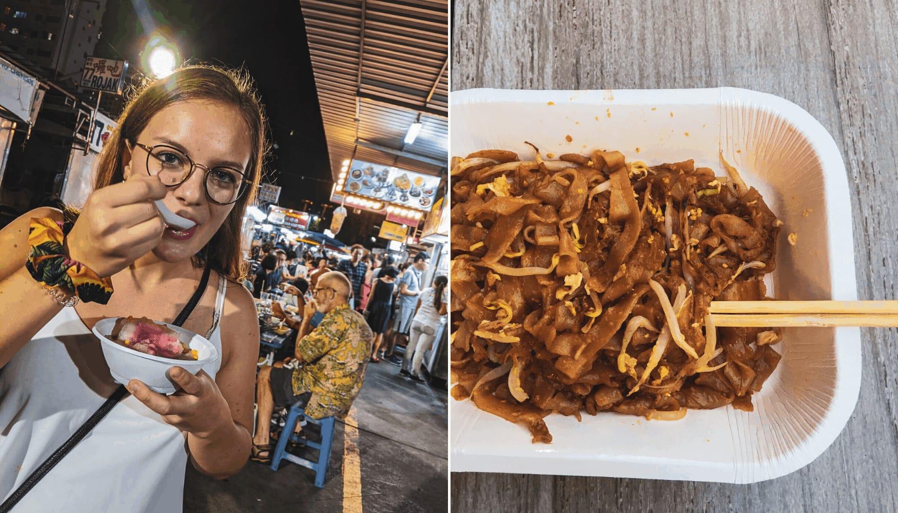 Redakteurin Linda probiert sich durch die malaysische Street-Küche