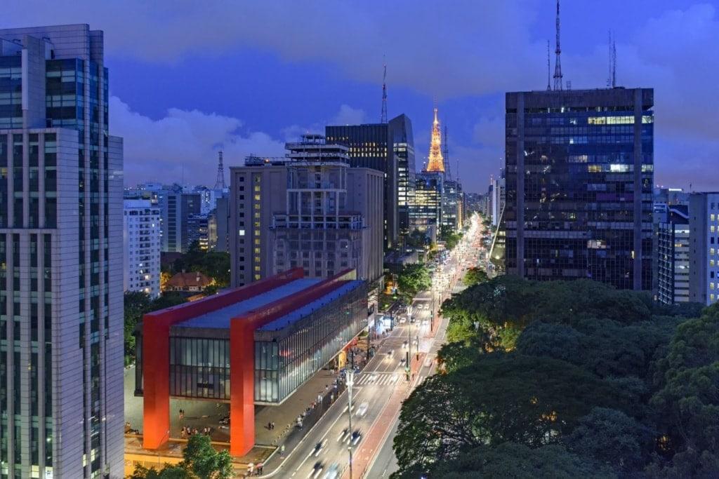 Avenida Paulista in Sao Paulo