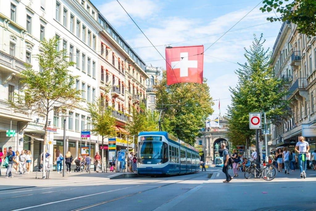 Bahnhofstraße in Zürich, Schweiz
