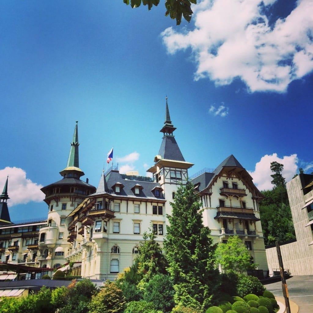 Fassade des Hotels Dolder Grand in Zürich