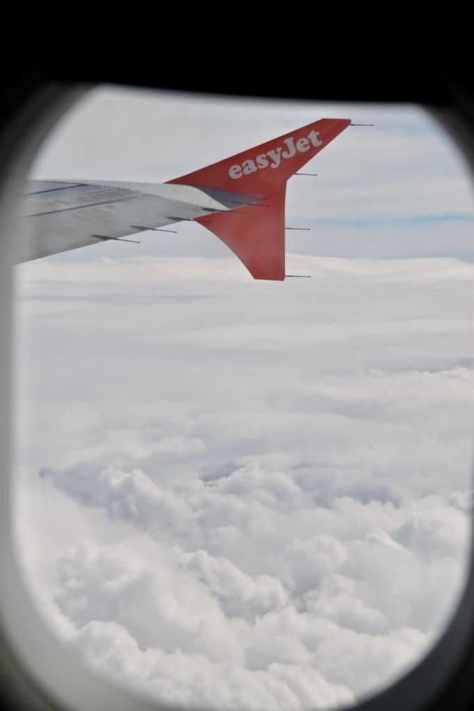 Foto aus dem Easyjet-Flugzeug