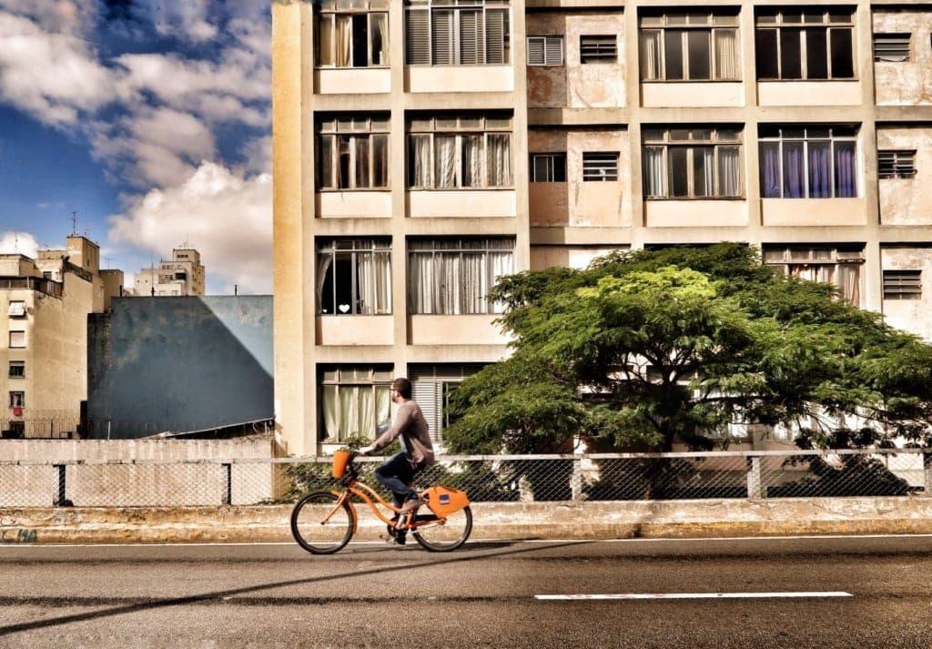 Fahrradfahrer in Sao Paulo