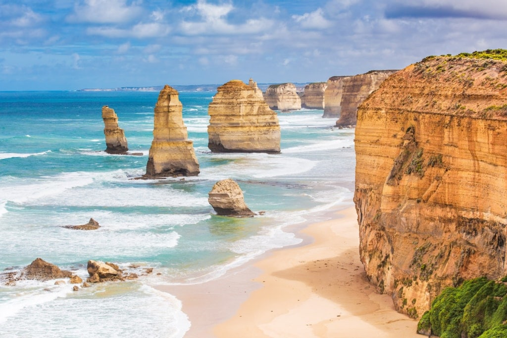 Die Great Ocean Road nahe Melbourne ist von den Buschfeuern in Australien nicht betroffen.