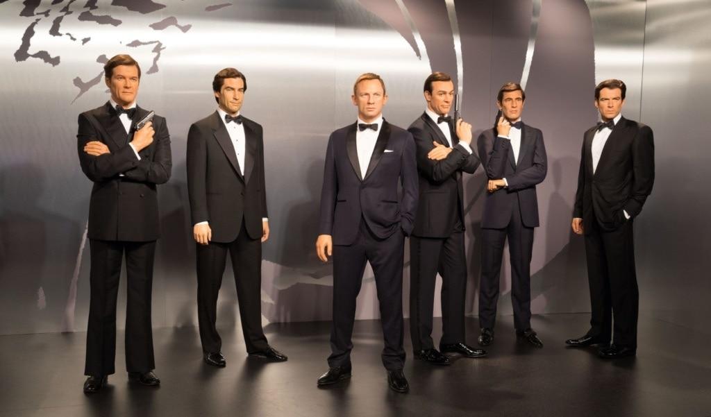 Wachsfiguren der James-Bond-Schauspieler
