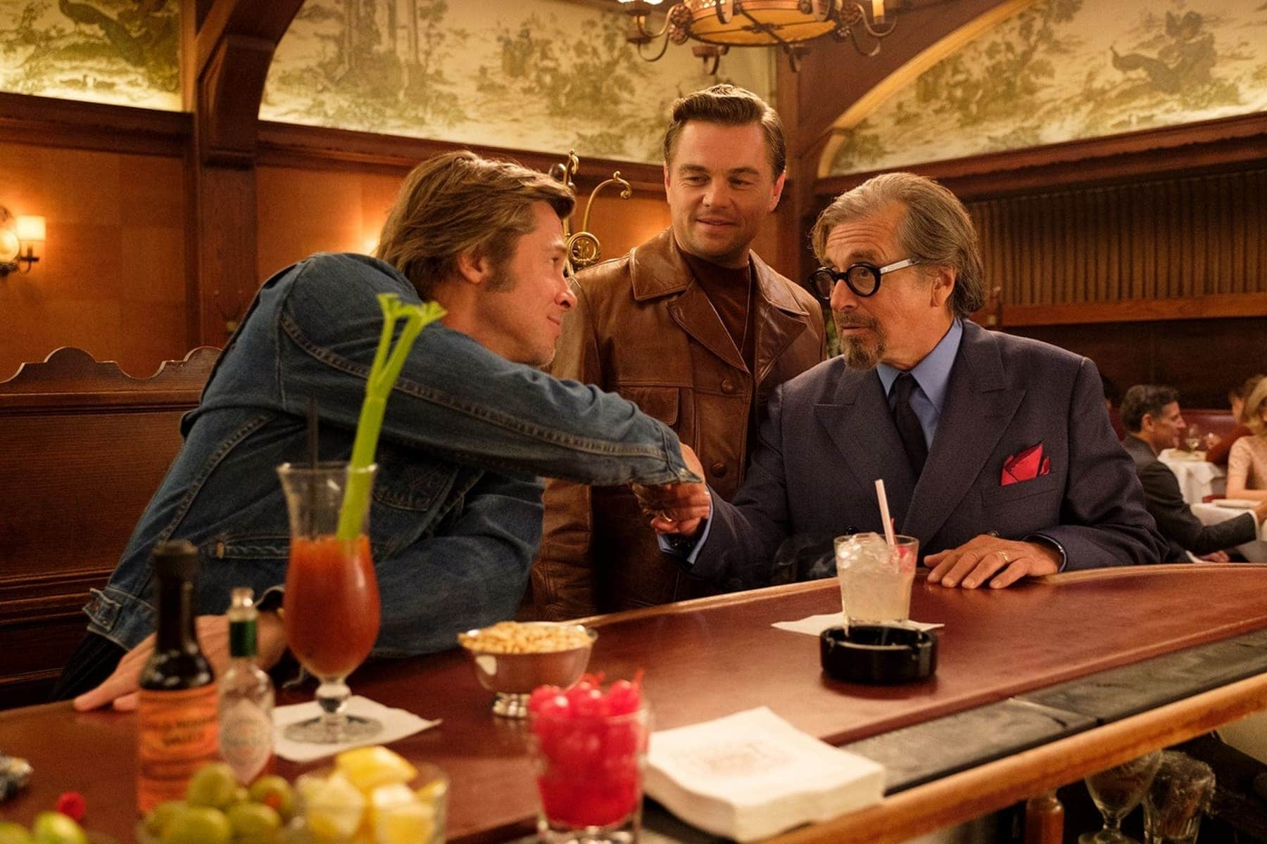Leonardo DiCaprio, Brad Pitt & Al Pacino in Columbia Pictures' Once Upon a Time