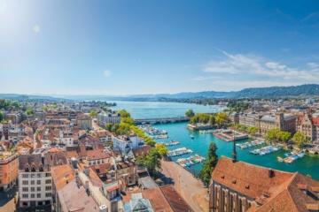 Luftbild Zürich Zentrum