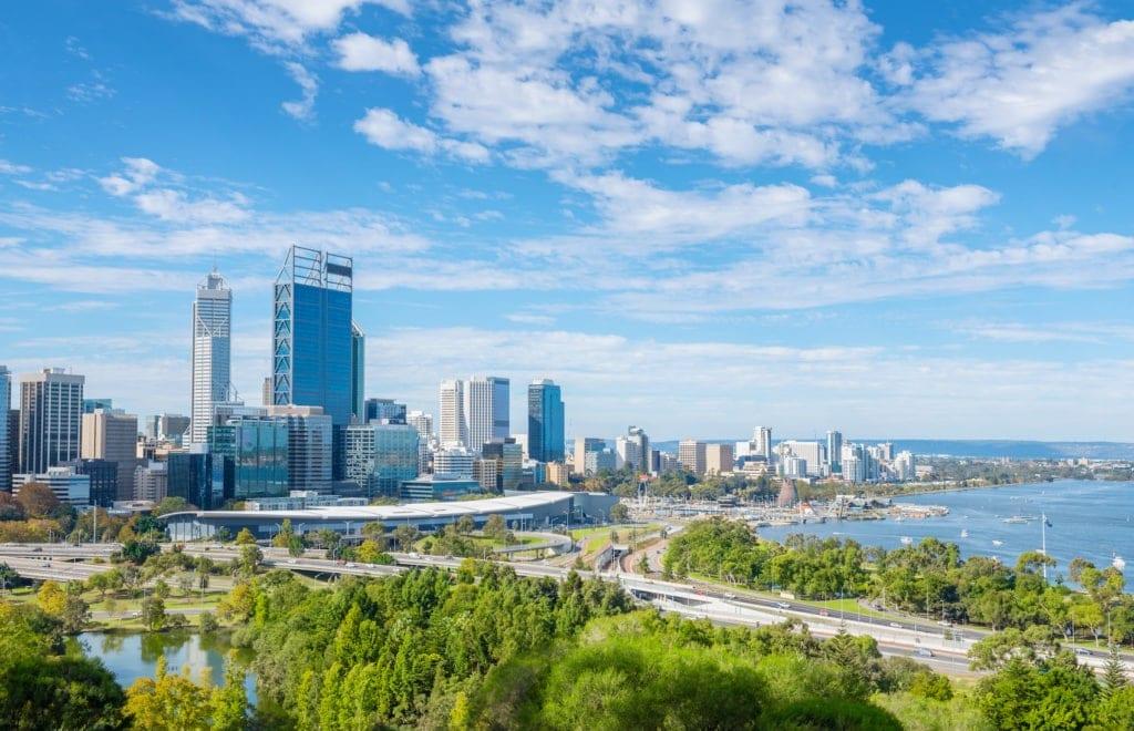 Perth in Westaustralien ist eine der schönsten Städte des Landes – und von den Feuern völlig anbetroffen.