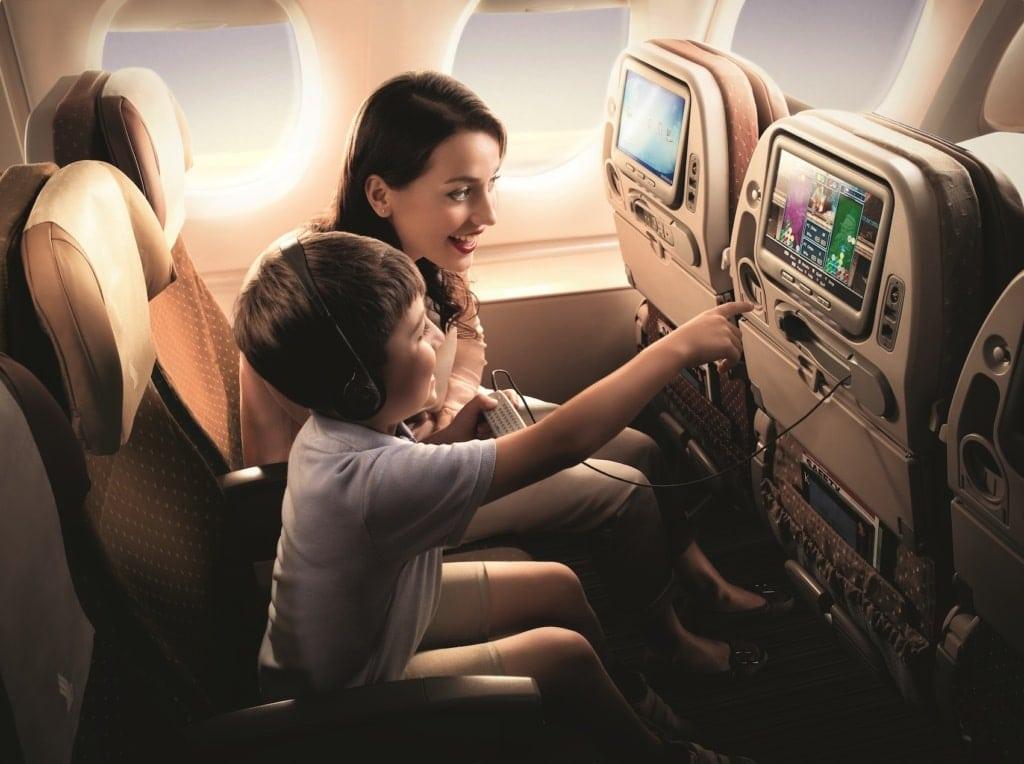 Mit KrisWorld vergeht die Zeit wie im Flug, bei Singapore Airlines im Wortsinn.